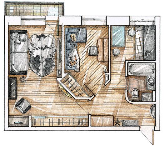 малогабаритка - план квартиры