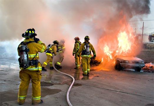 борьба с пожаром