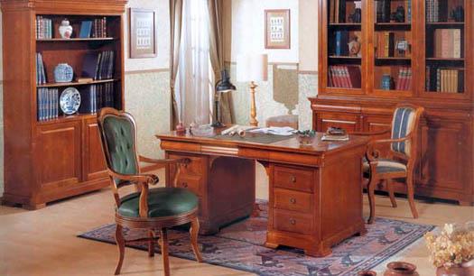 мебель из дорогого дерева в кабинет