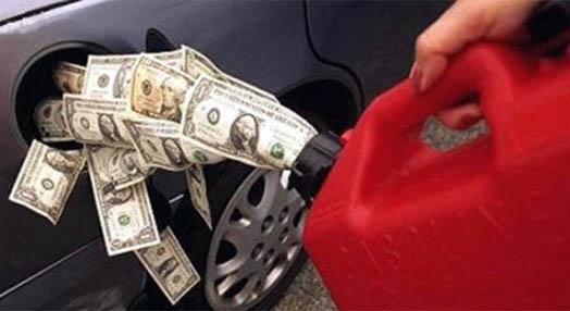 бензин в бак по цене больше доллара