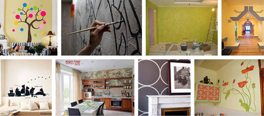 декорирование стен в доме