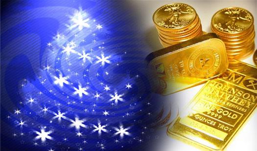 золото на Новый год