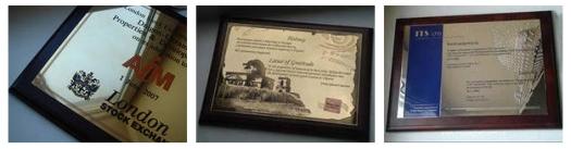 Сертификаты на металлической основе