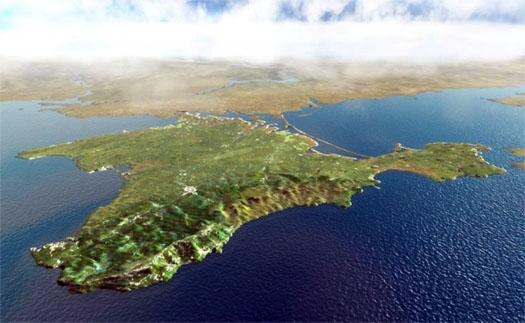 Крымский полуостров с неба