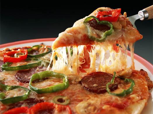 Пицца с тарелки