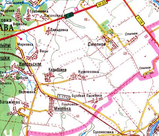 Карта села курилеховка